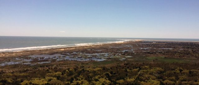 From the Hatteras Lighthouse deck overlooking Diamond Shoals