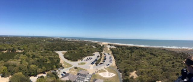 From the Hatteras Lighthouse deck looking north up the barrier islands