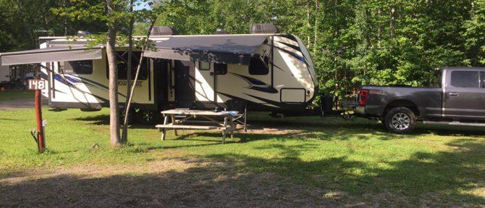 Campsite Near Bathurst, NB