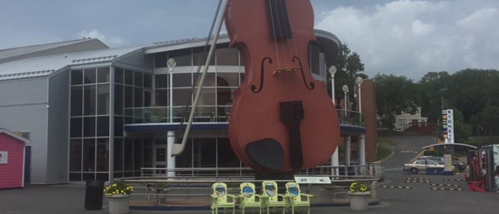It's a big fiddle