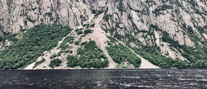 Western Brook Pond — Rock Slide