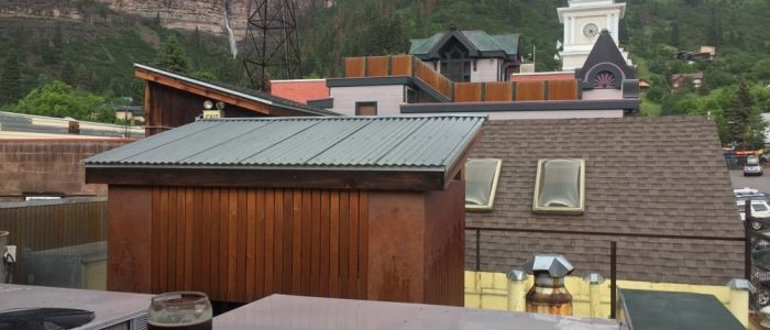 View from Ouray Brewing Rooftop
